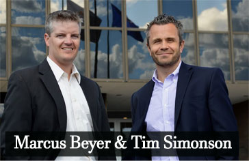 Attorney Marcus Beyer and Tim Simonson